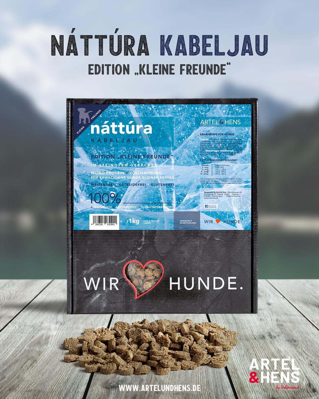 Artel & Hens Trockenfutter - Náttúra - kleine Freunde - Kabeljau