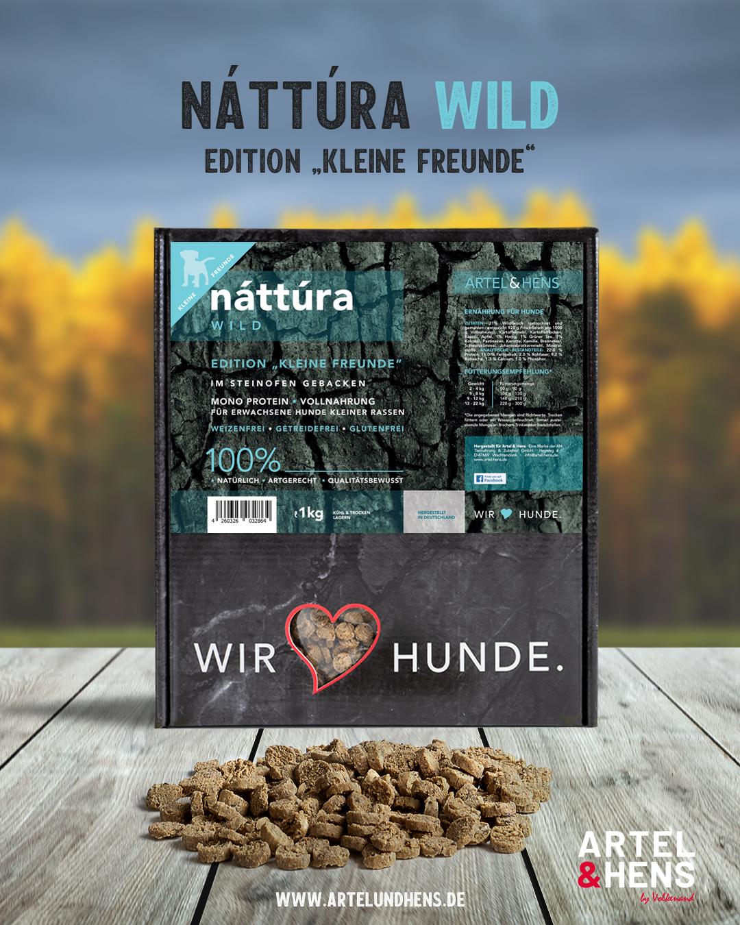 Artel & Hens Trockenfutter - Náttúra - kleine Freunde - Wild